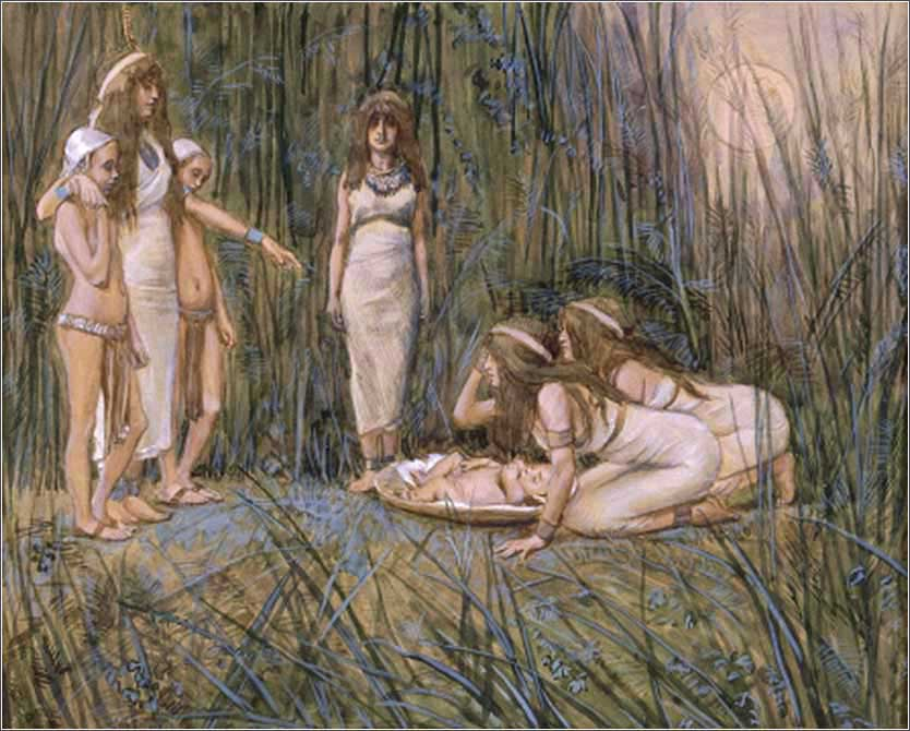 Moses in the Bulrushes, James Tissot