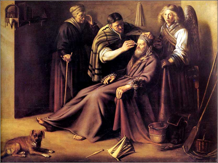 <i>Healing of Tobit</i> by Paulus Lesire, ca. 1640.