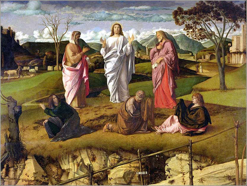 i>Transfiguration of Christ</i> by Giovanni Bellini, ca. 1480.