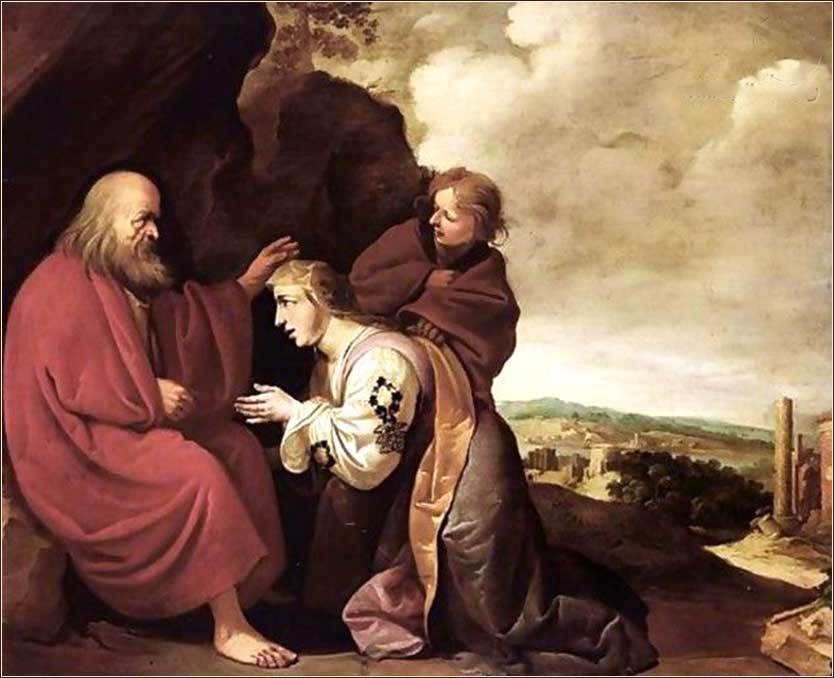 <i>The Shunamite Before The Prophet Elisha</i> by Francois Venant ca. 1620.