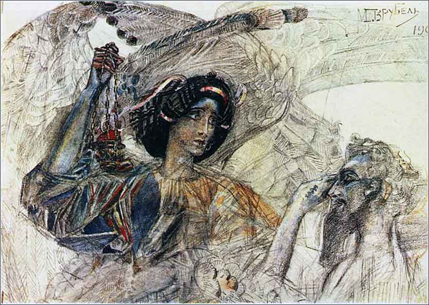 <i>Six-Winged Seraph</i> by Mikhail Vrubel, ca. 1904.