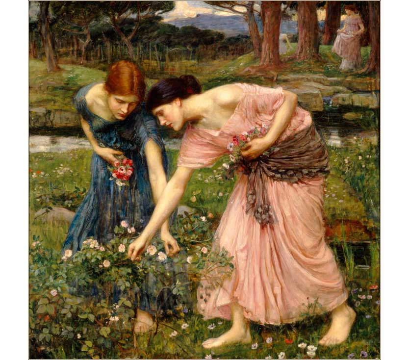 <i>Gather Ye Rosebuds</i> by William Waterhouse, ca. 1909.