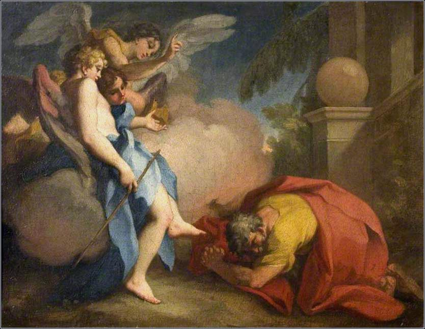 <i>Abraham Visited by the Three Angels</i> by Antonio Balestra, ca. 1716.