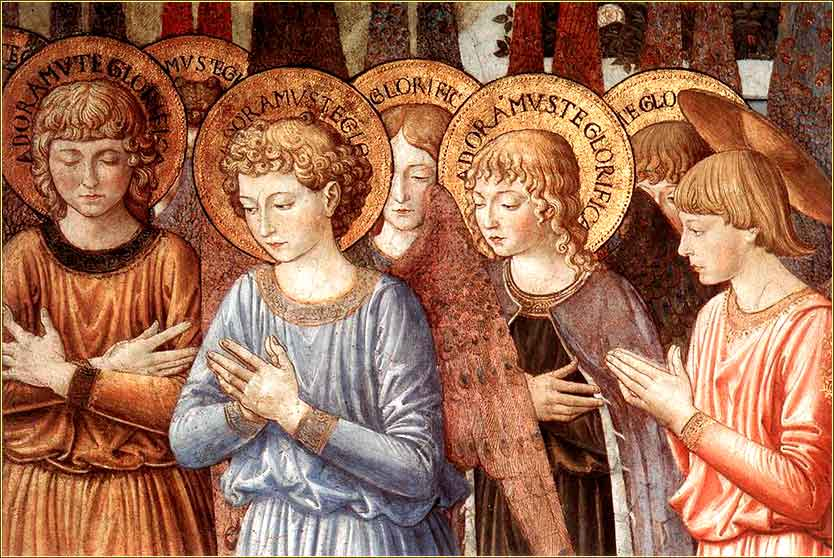 <i>Angels Worshipping (detail)</i> by Benozzo Gozzoli,