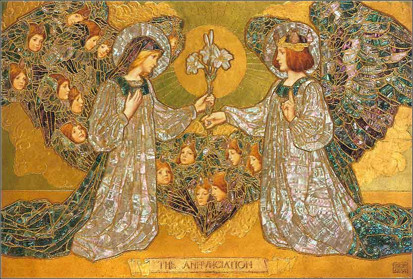 <i>The Annunciation</i> by F. Pickford Marriott, ca. 1901.