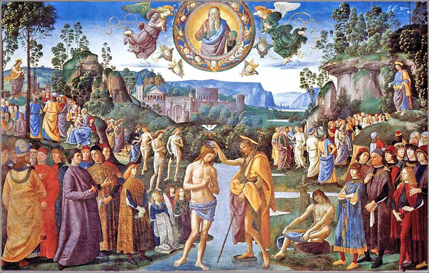 <i>The Baptism of Christ</i> by Pietro Perugino, c. 1483.
