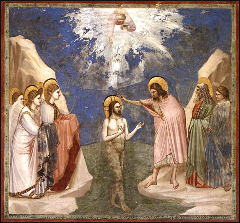 <i>The Baptism of Christ</i> by Giotto, ca. 1305.