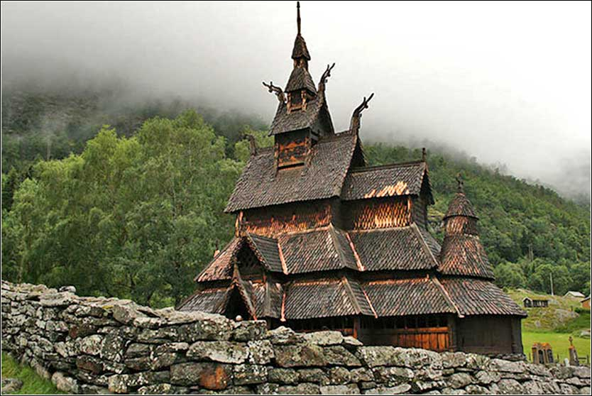 Stave church, Borland, Norway