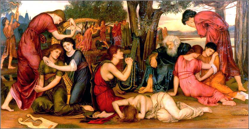 <i>By the Waters of Babylon</i> by Evelyn de Morgan, ca. 1883.
