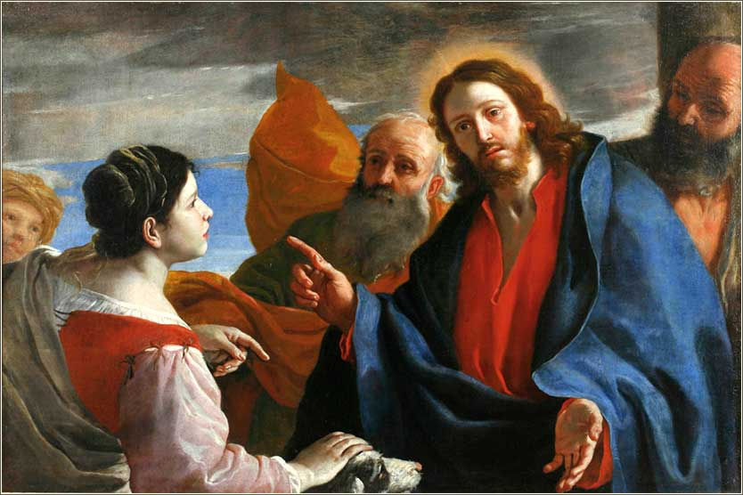 <i>Jesus and the Canaanite Woman</i> by Mattia Preti, c. 1660. | Matthew 15:21