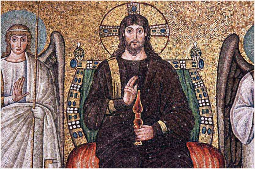 Mosaic of Christ in Ravenna, Italy