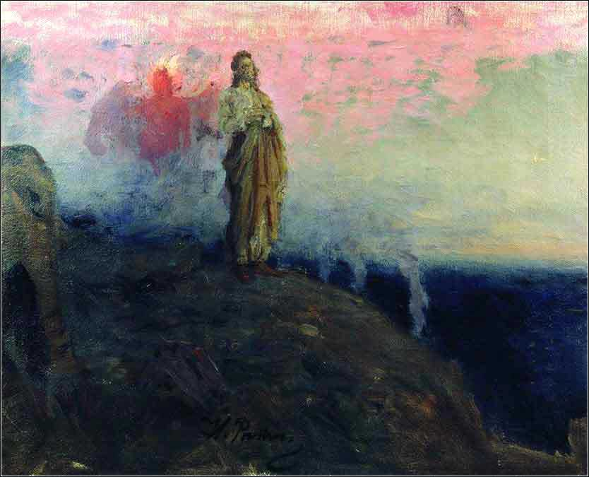 <i>The Temptation of Christ</i> by Iliya Efimovich Repin, ca. 1871.