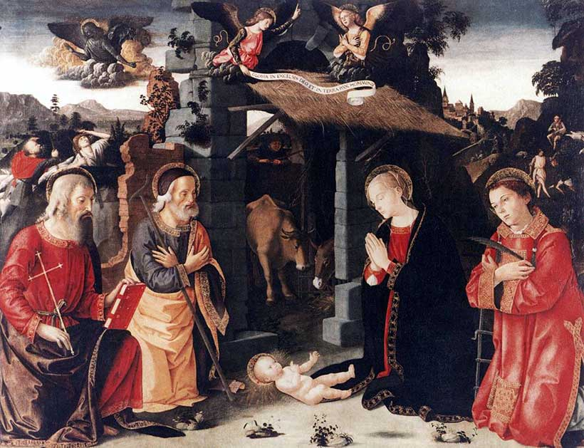 Christmas Birth of Jesus by Antonazzo Romano