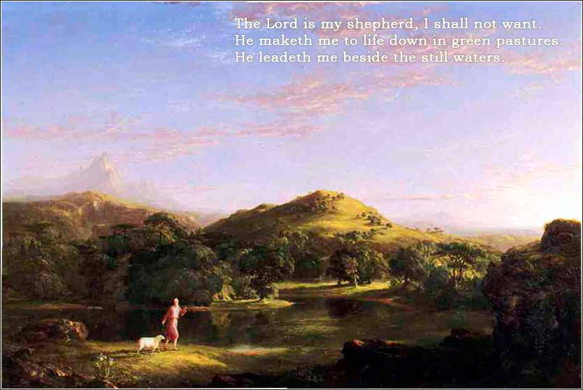 Painting, Good Shepherd by Thomas Cole