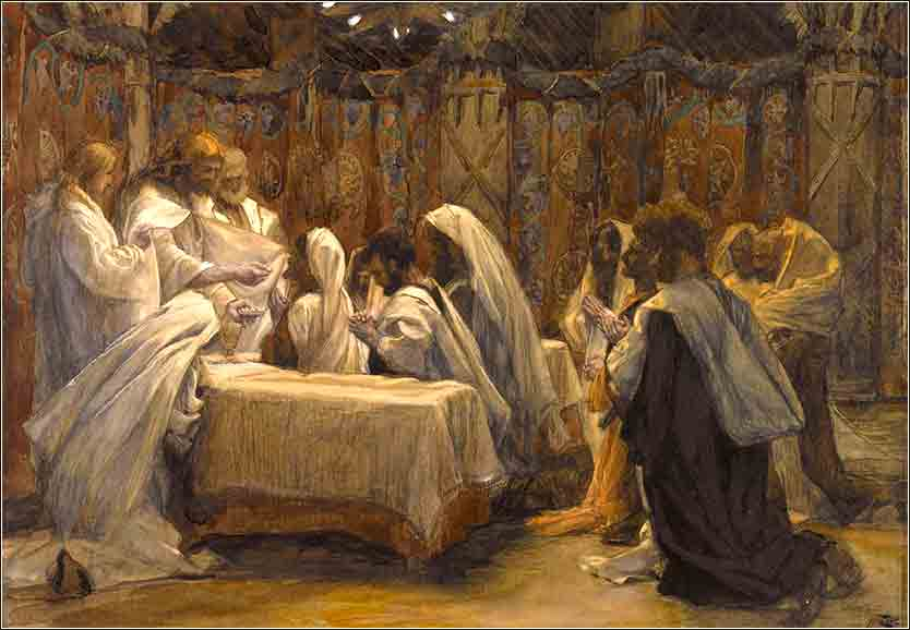 <i>The Communion of the Apostles</i> by James Tissot, ca. 1890.