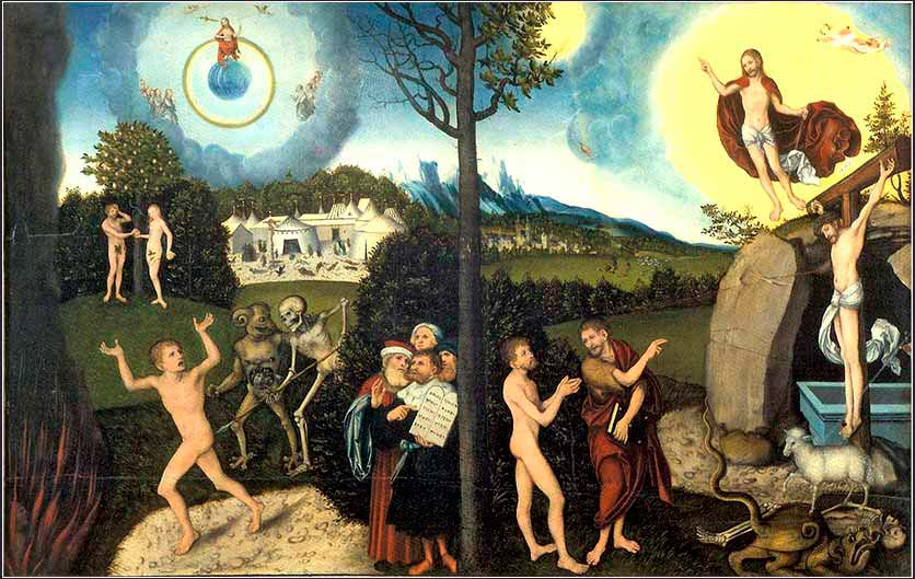 <i>Law and Grace</i> by Lucas Cranach, the Elder, ca. 1529