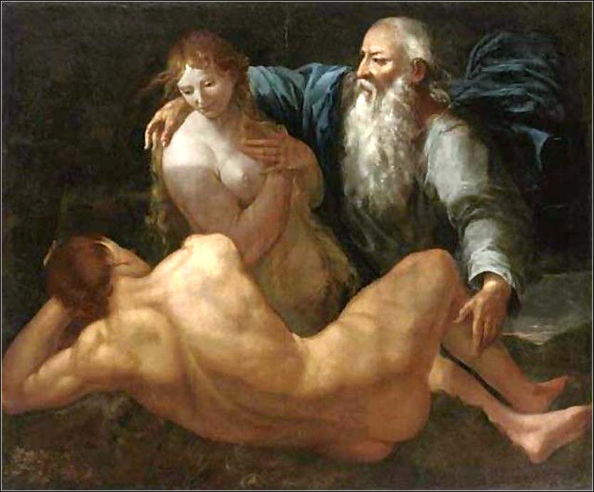 <i>The Creation of Adam and Eve</i> by Giulio Carpioni, ca. 1650.