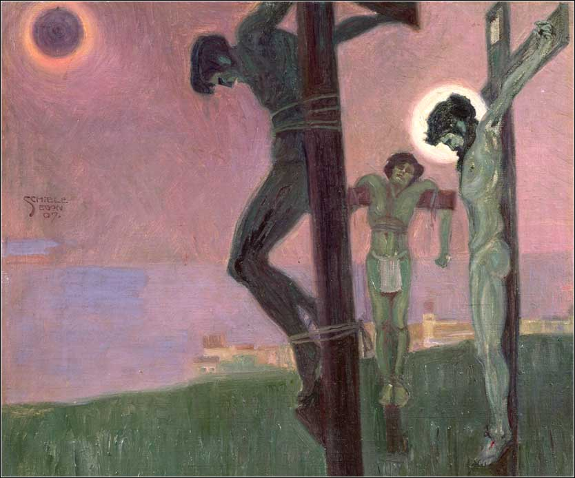 <i>Crucifixion (detail)</i> by Egon Schiele, ca. 1890.