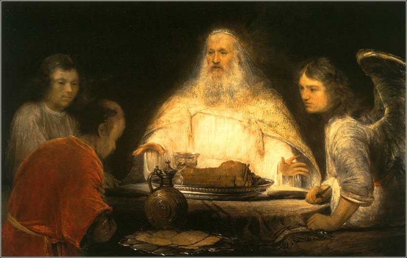 <i>God and the Angels visit Abraham</i>, Arent de Gelder ca. 1685.