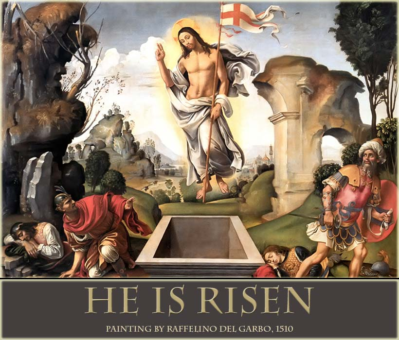 Christ is Risen, Easter painting by del Garbo