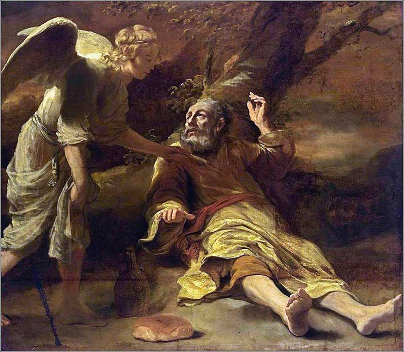 <i>Elijah Fed by an Angel </i> by Ferdinand Bol, ca. 1660.