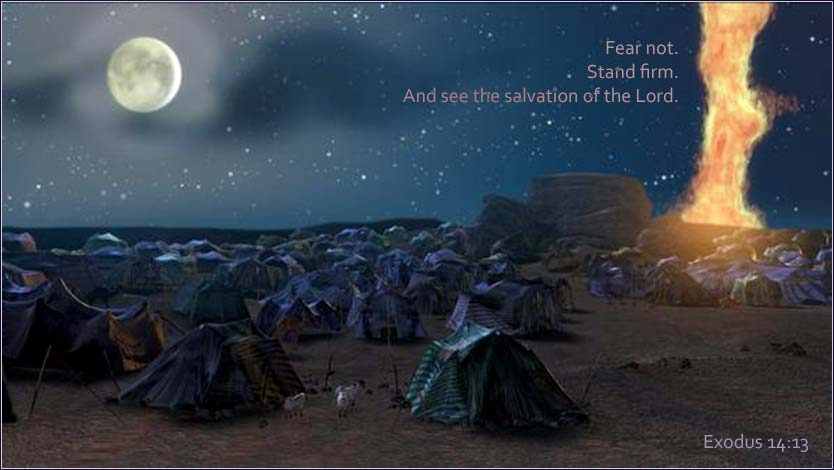 Exodus 14, Hebrew camp