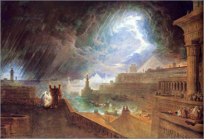 Seventh plague Egypt from Exodus, John Martin painting