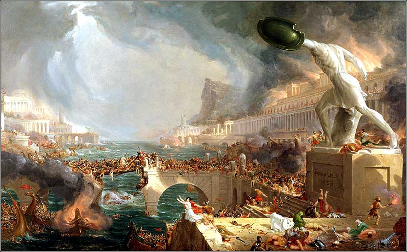 <i>The Fall of Babylon</i> by Thomas Cole ca. 1828.