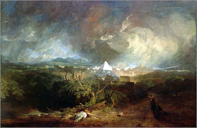 Fifth Plague of Egypt (Exodus 8), Joseph Turner ca. 1800