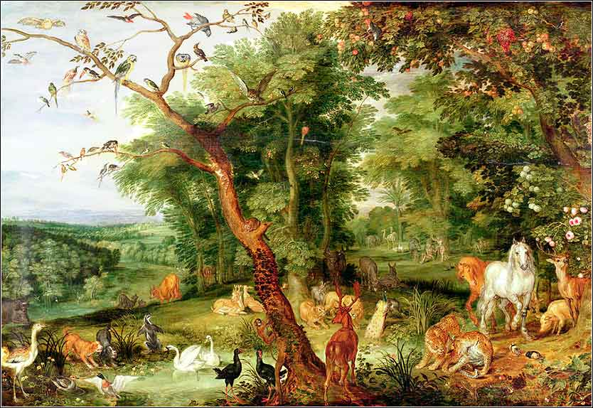 <i>The Garden of Eden</i>by Jan Brueghel the Elder, ca. 1610.