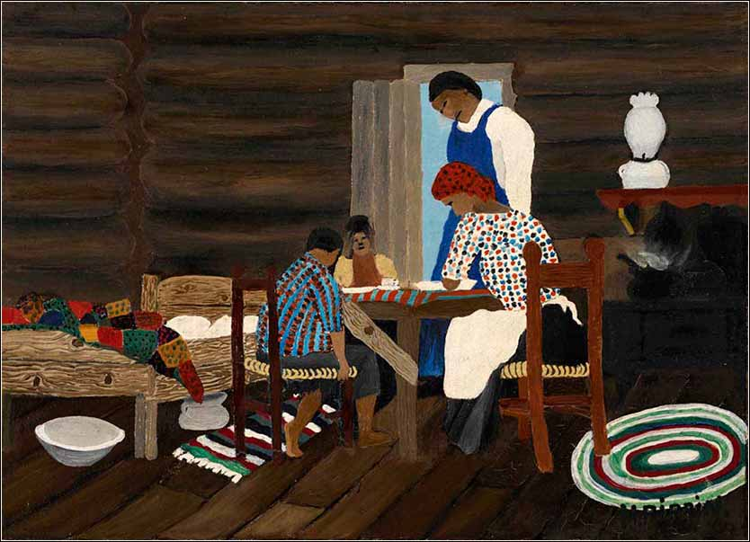 <i>Giving Thanks</i>, Horace Pippin ca. 1940