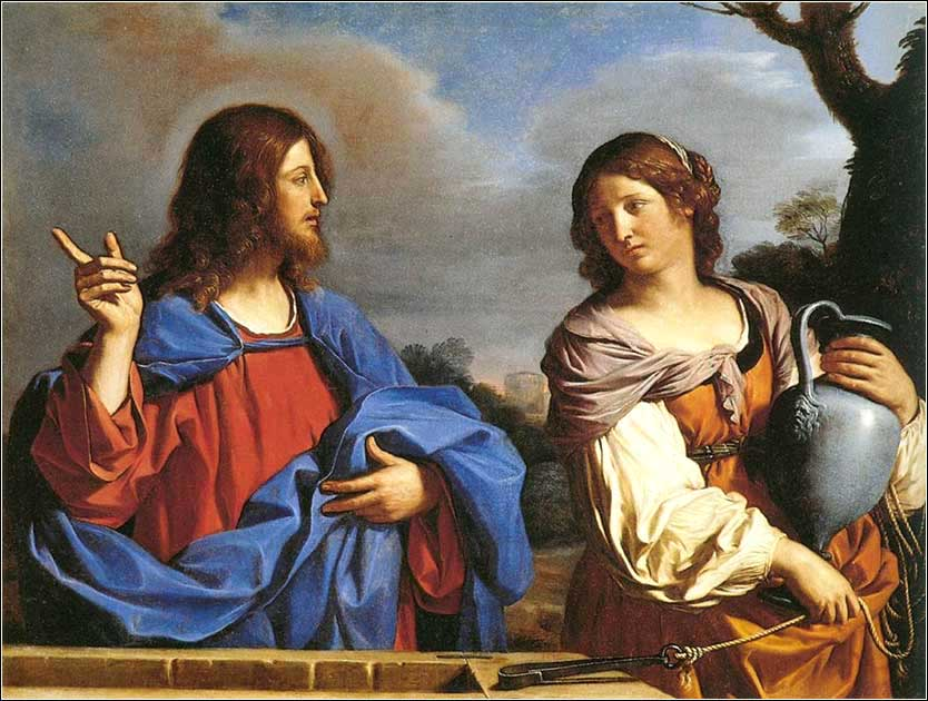 <i>Jesus and the Samaritan Woman at the Well</i> by Guercino, ca. 1640