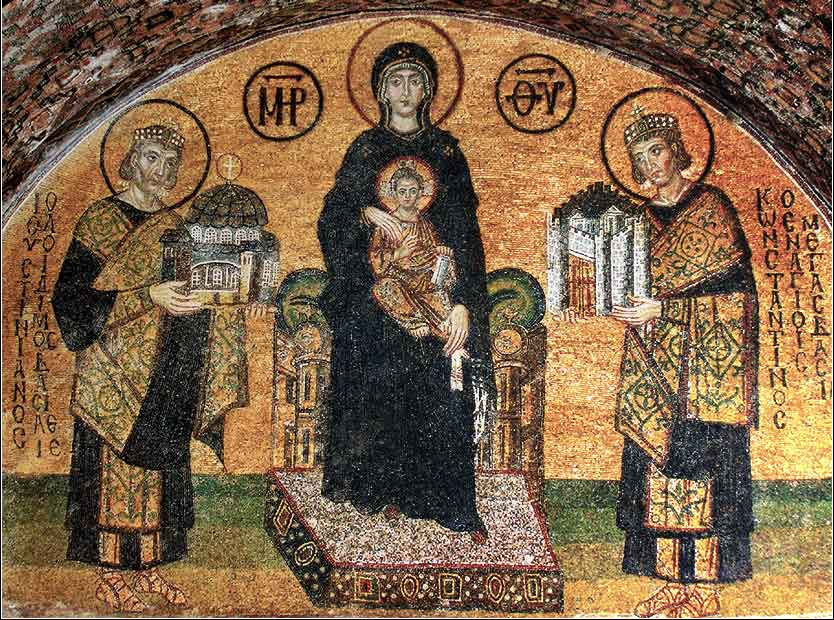 Hagia Sophia mosaic, Virgin Mary