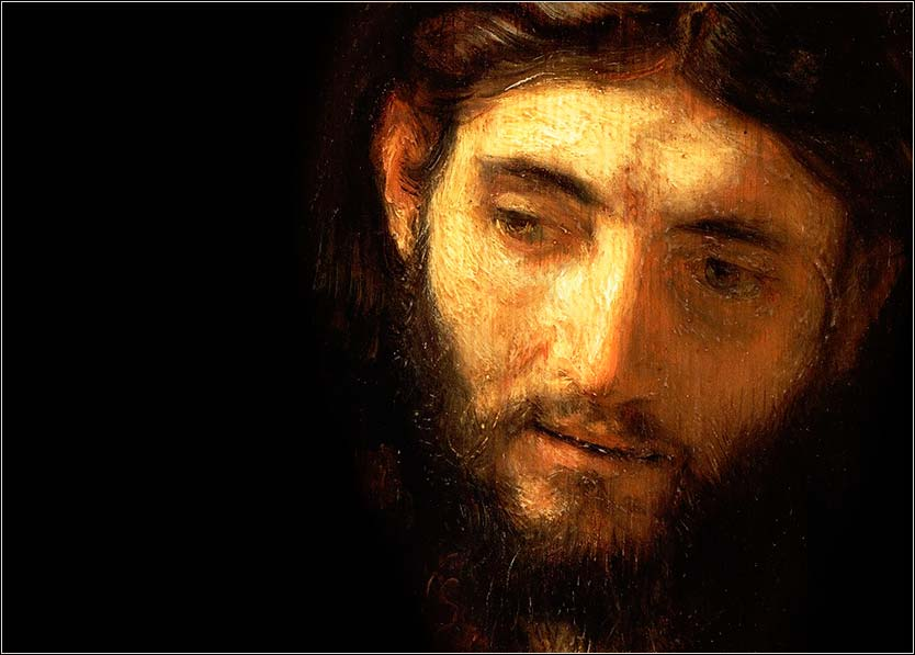 <i>Head of Christ</i> by Rembrandt, ca. 1648.