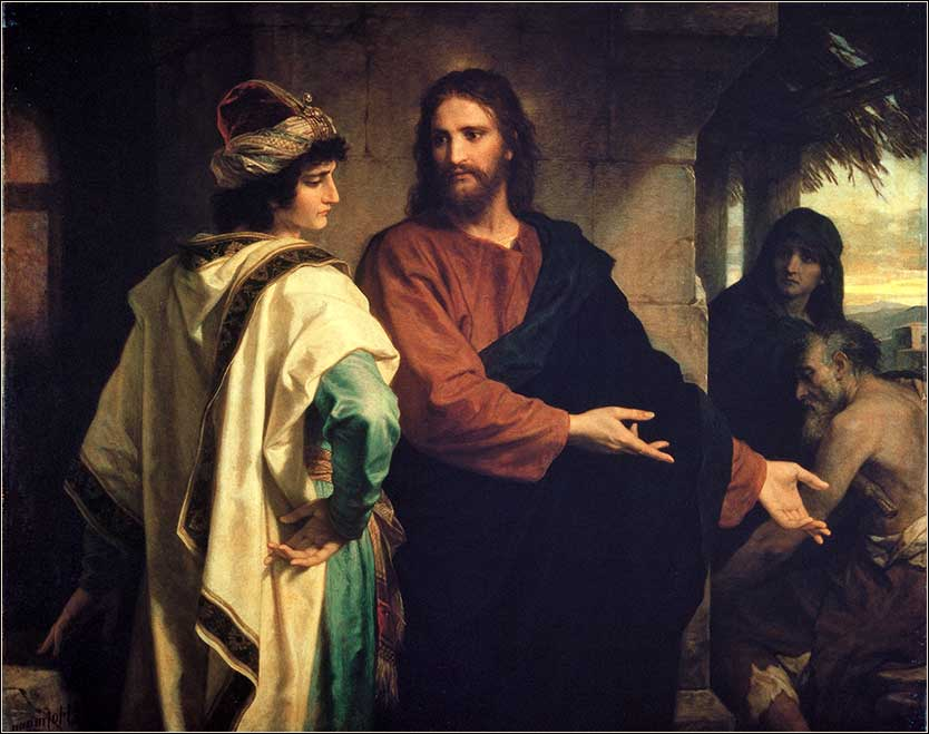 <i>Christ and the RIch Young Ruler</i> by Heinrich Hoffman, ca. 1889.