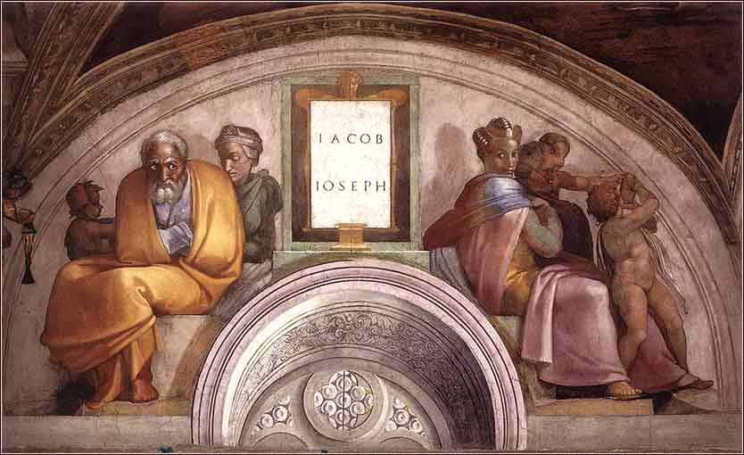 Jacob and Joseph, Sistine Chapel, Michelangelo