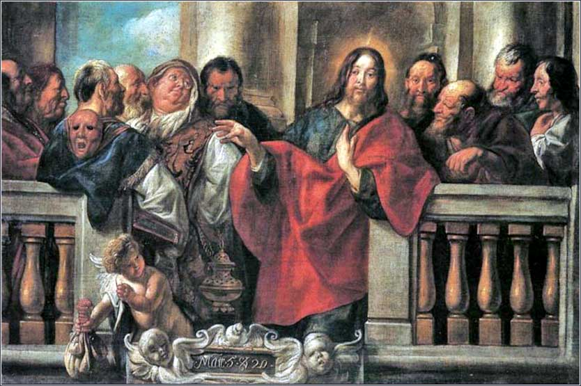 <i>Jesus and the Pharisees</i> by Jacob Jordaens, ca. 1640.