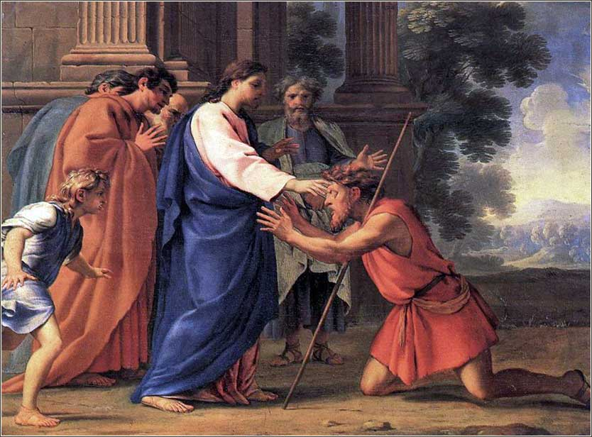 <i>Jesus Heals the Blind Man</i> by Eustache Le Sueur, ca. 1650.