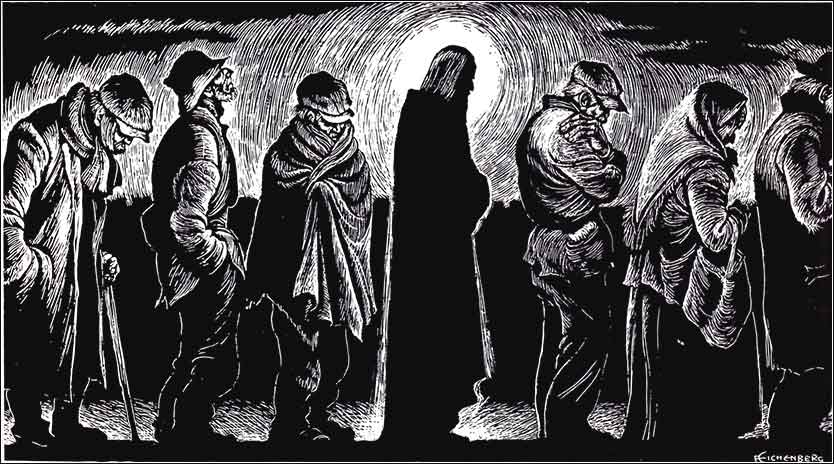 <i>Jesus of the Breadlines</i> by Fritz Eichenberg, ca. 1951.