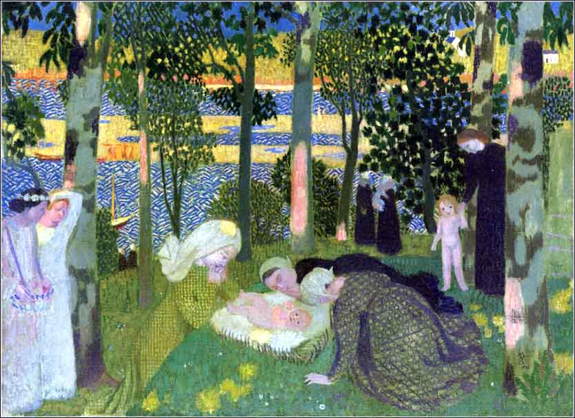 <i>Jesus in the Green Grass</i> by French Symbolist painter Maurice Denis, ca. 1900.