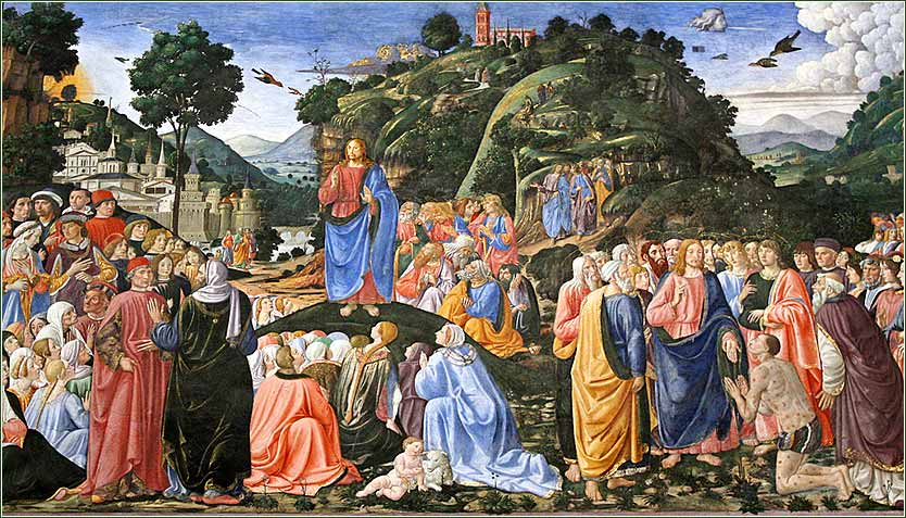Jesus, sermon on the mount, Rosselli