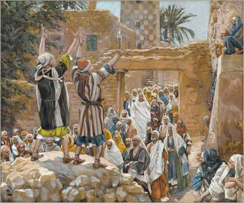 <i>The Two Blind Men at Jericho</i> by James Tissot, ca. 1886.