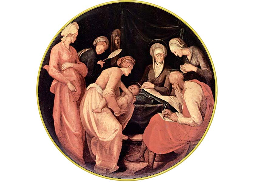 <i>Birth of John the Baptist,</i> Jacopo Pontormo ca. 1526.