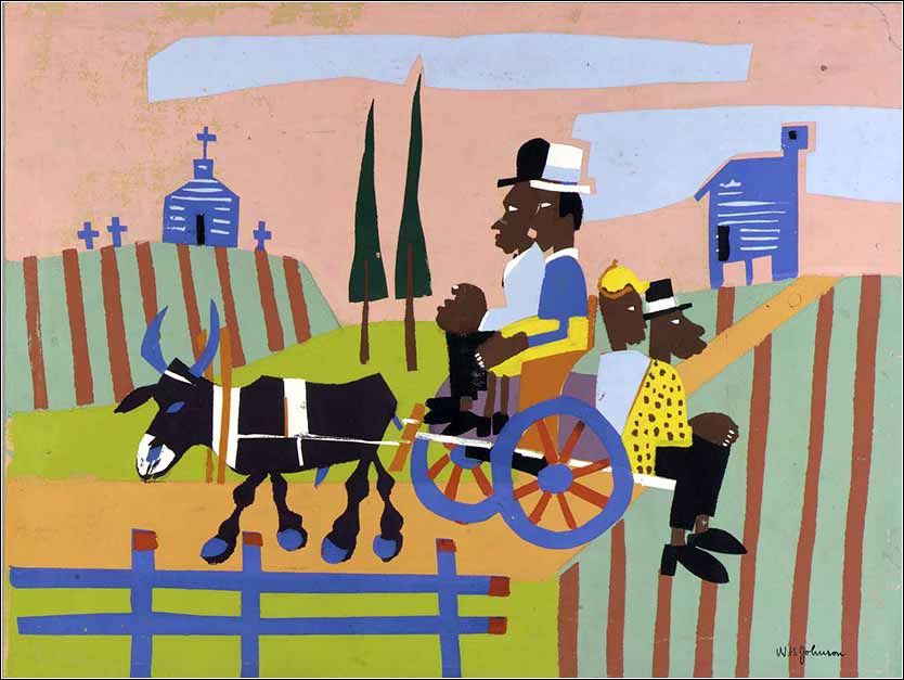 <i>Going to Church</i> by William H. Johnson, ca. 1939