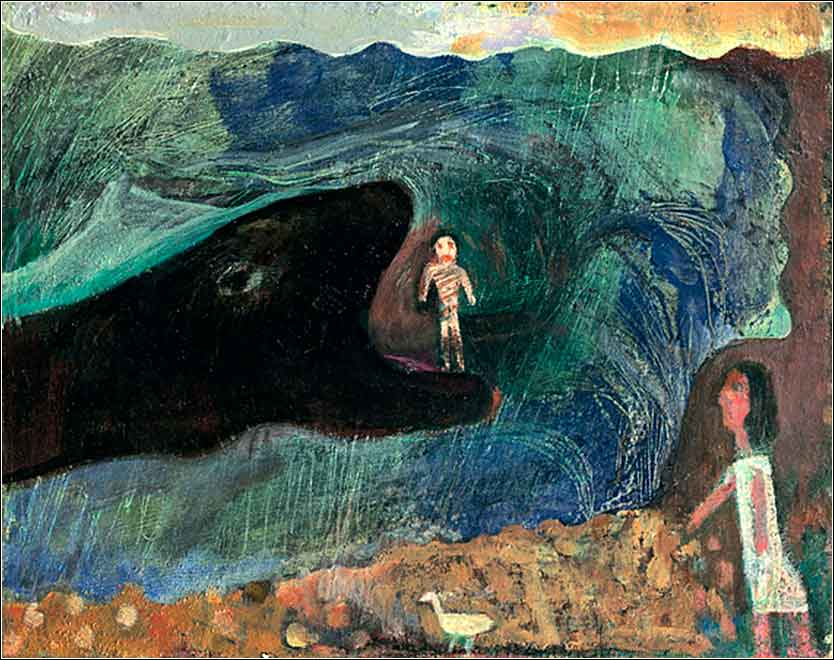 <i>Jonah and the Whale</i> by Albert Herbert ca. 1987.