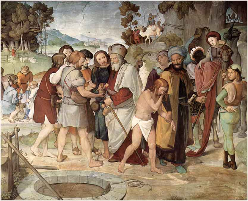 Overbeck, mural, Joseph Sold into Slavery in the Bible