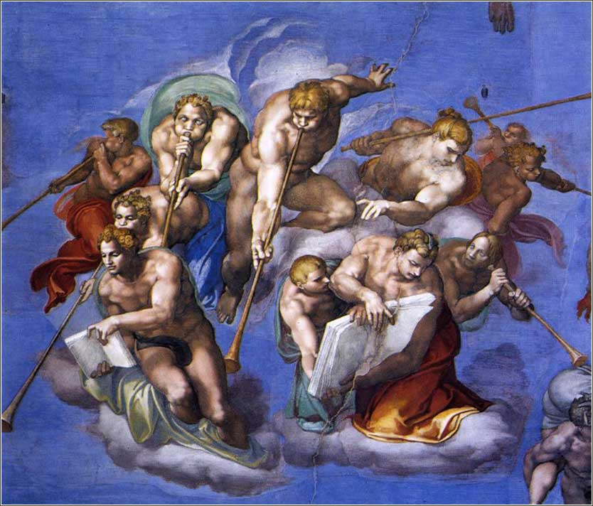 <i>The Last Judgment</i> by Michelangelo (detail), ca. 1541.