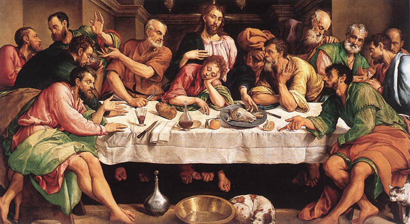 Devotional painting - Bassano's The Last Supper