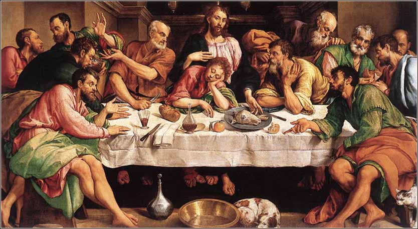 Jacobo Bassono, The Last Supper, ca. 1546 (Venetian)
