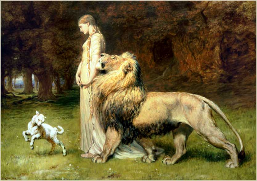 <i>Una and the Lion</i>, Briton Riviere ca. 1888.